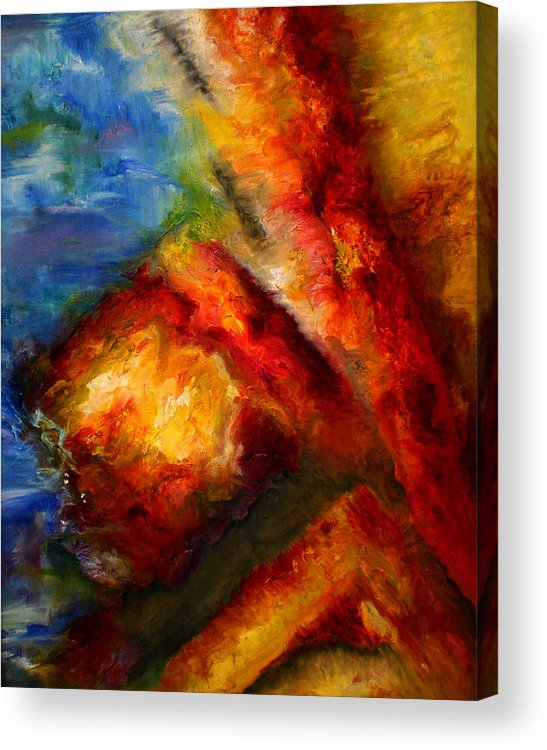 Abstract Acrylic Print featuring the painting Ways by Lou Ewers