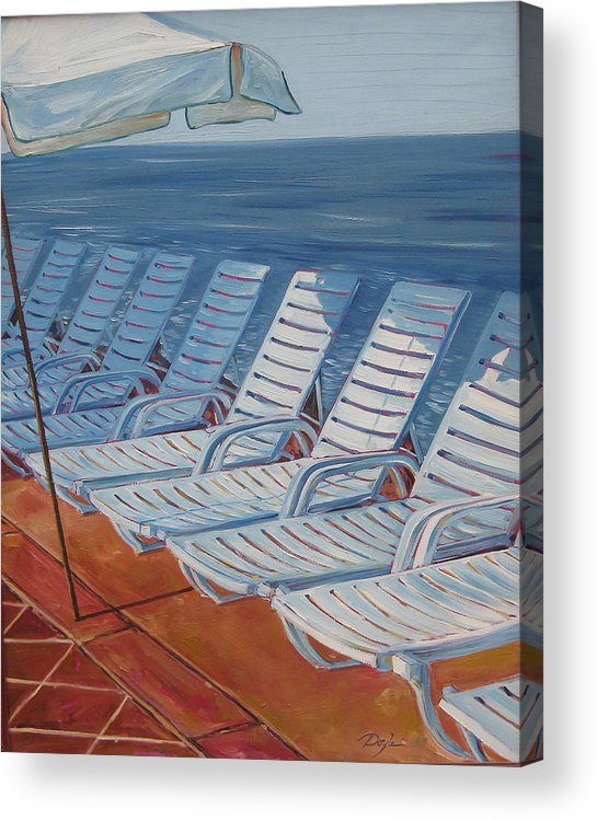 Ocean Acrylic Print featuring the painting Wednesday Afternoon by Karen Doyle