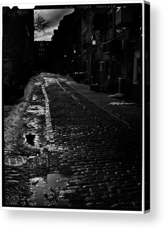 Black And White Acrylic Print featuring the photograph Wharf Street by Filipe N Marques