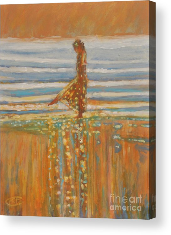 Dancing Acrylic Print featuring the painting When Reflections Watch by Kip Decker