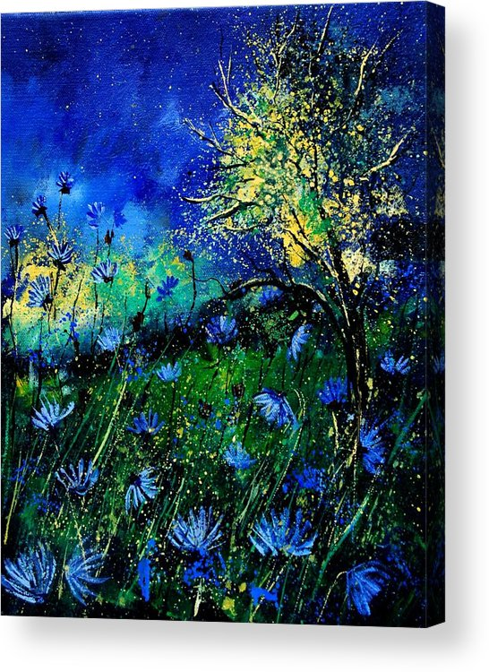 Poppies Acrylic Print featuring the painting Wild Chocoree by Pol Ledent