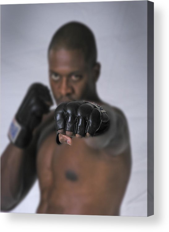 Fighter Acrylic Print featuring the photograph Yes We Can by D'Arcy Evans