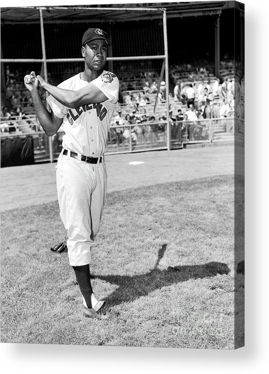 People Acrylic Print featuring the photograph Cleveland Indians V New York Yankees 1 by Kidwiler Collection