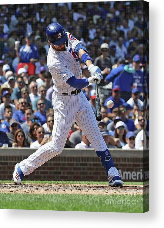 American League Baseball Acrylic Print featuring the photograph Oakland Athletics V Chicago Cubs 1 by Jonathan Daniel