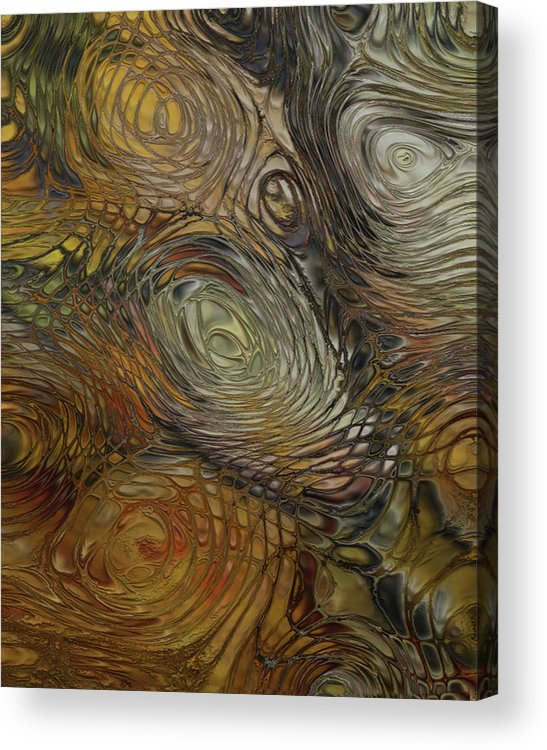 Stone Acrylic Print featuring the painting Of The Earth by Jack Zulli