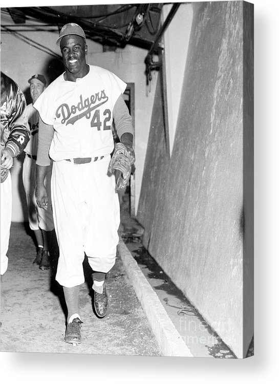 1950-1959 Acrylic Print featuring the photograph 1956 World Series - Brooklyn Dodgers V 1956 by Kidwiler Collection