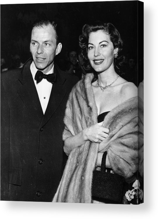Singer Acrylic Print featuring the photograph Frank And Ava by Keystone