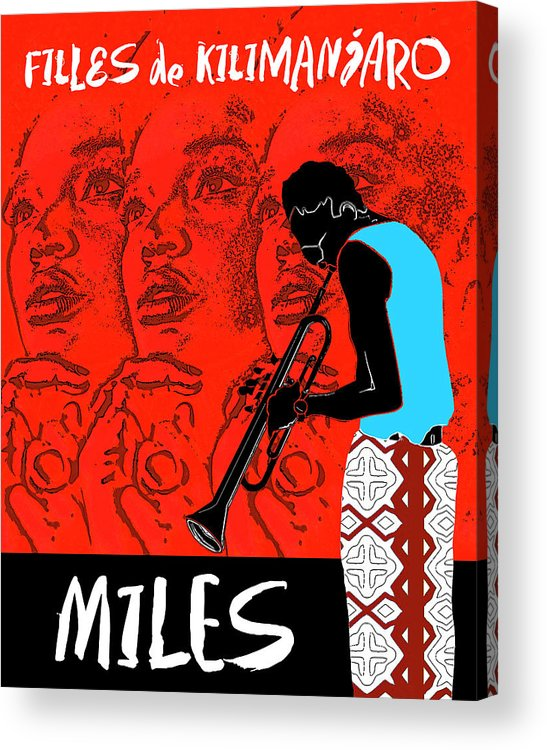 Miles Davis Acrylic Print featuring the digital art Miles Davis - Filles De Kilimanjaro by Regina Wyatt