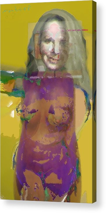 Mask Acrylic Print featuring the painting Melanie II by Noredin Morgan