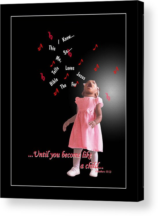 Child Acrylic Print featuring the photograph Childlike by Richard Gordon