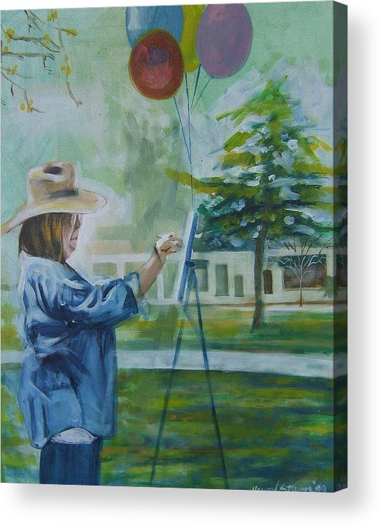 Artist At Work Acrylic Print featuring the painting Nancy by Howard Stroman