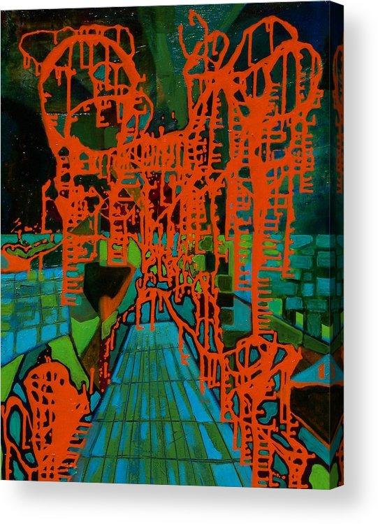 Lanscape Acrylic Print featuring the print Orange Palas by Meltem Quinlan