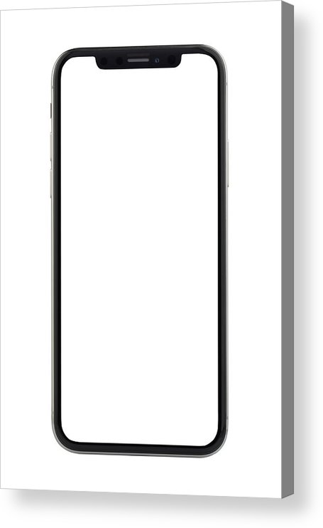 Corporate Business Acrylic Print featuring the photograph Apple iPhone X Silver White Blank Screen by Bombuscreative