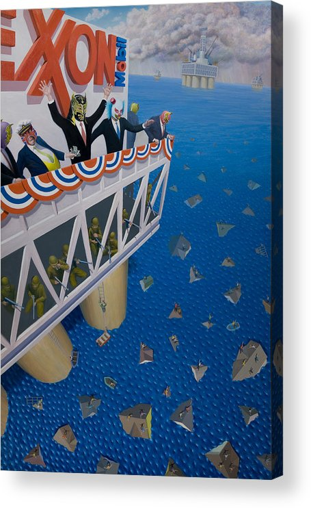 Water Acrylic Print featuring the painting Happy Motoring by Johnny Everyman