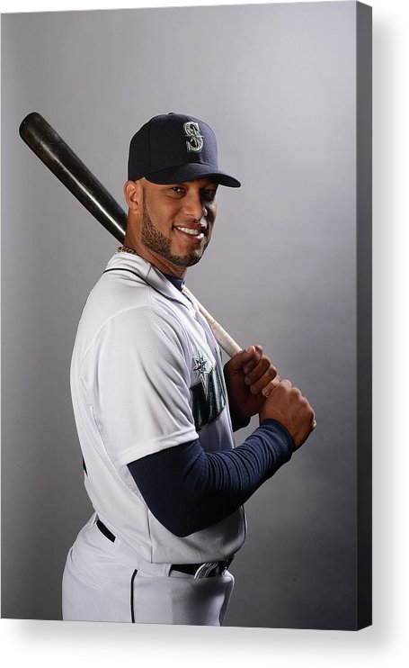 Media Day Acrylic Print featuring the photograph Seattle Mariners Photo Day by Norm Hall