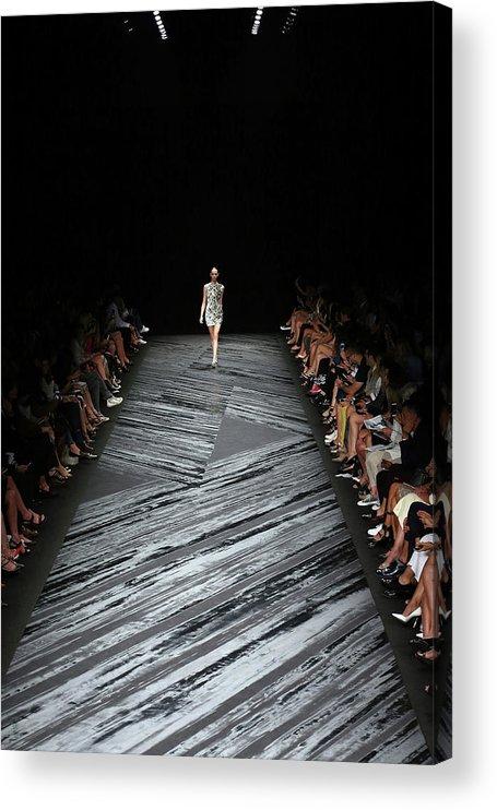Fashion Model Acrylic Print featuring the photograph Mercedes-benz Fashion Week Spring 2015 by Neilson Barnard