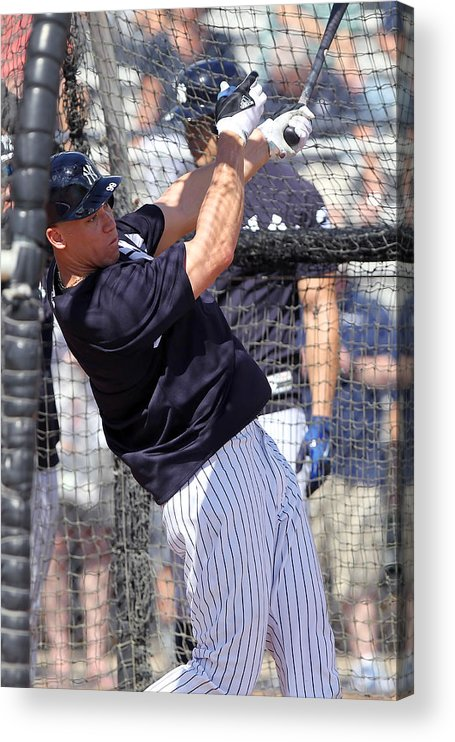 American League Baseball Acrylic Print featuring the photograph MLB: FEB 20 Spring Training - Yankees Workout by Icon Sportswire
