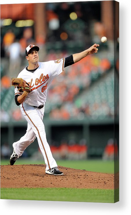 T.j. Mcfarland Acrylic Print featuring the photograph Texas Rangers V Baltimore Orioles by Greg Fiume