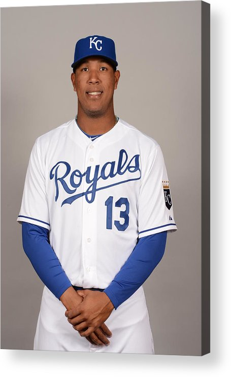 Media Day Acrylic Print featuring the photograph 2014 Kansas City Royals Photo Day by Robert Binder