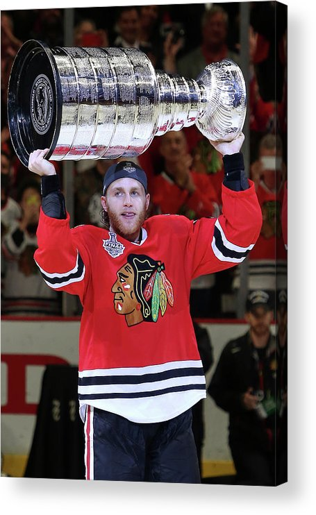 Playoffs Acrylic Print featuring the photograph 2015 Nhl Stanley Cup Final - Game Six by Tasos Katopodis