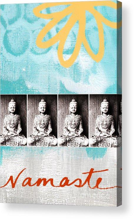 Buddha Acrylic Print featuring the painting Buddha by Linda Woods