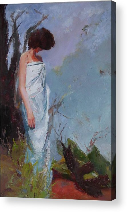 Young Woman Acrylic Print featuring the painting sold Halkaf by Irena Jablonski