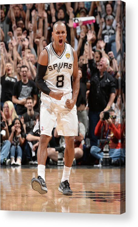 Playoffs Acrylic Print featuring the photograph Miami Heat V San Antonio Spurs - 2014 by Andrew D. Bernstein