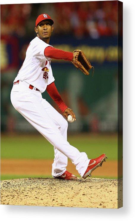 St. Louis Cardinals Acrylic Print featuring the photograph San Francisco Giants V St. Louis by Dilip Vishwanat