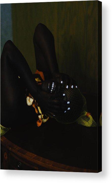 Headwear Acrylic Print featuring the photograph The Black Victorian by Stephanie Nnamani