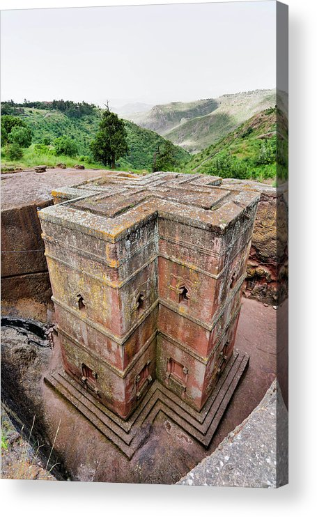 Abyssinia Acrylic Print featuring the photograph The Rock-hewn Churches Of Lalibela by Martin Zwick