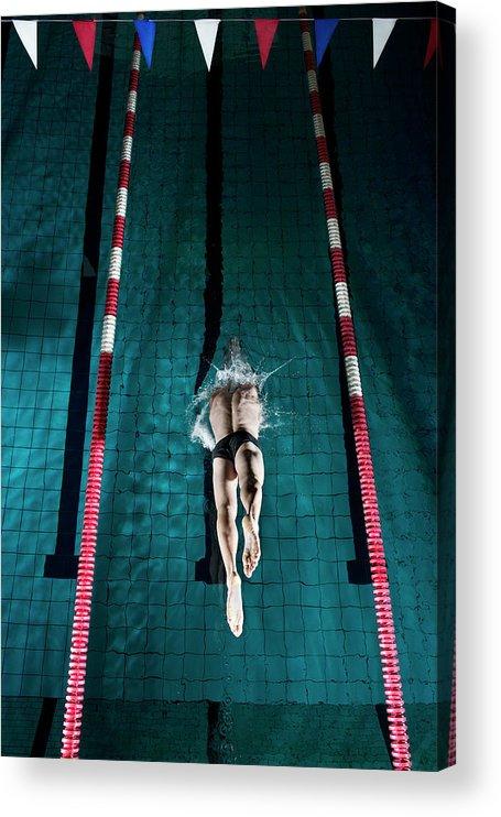 Copenhagen Acrylic Print featuring the photograph Professional Swimmer by Henrik Sorensen