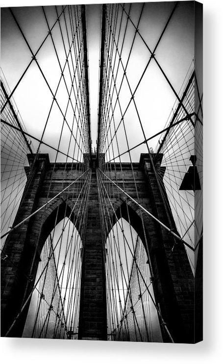 Brooklyn Bridge Arches Acrylic Print featuring the photograph A Brooklyn Perspective by Az Jackson