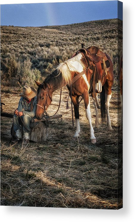 Sombrero Ranch Acrylic Print featuring the photograph A Cowgirls Best Friend by Pamela Steege