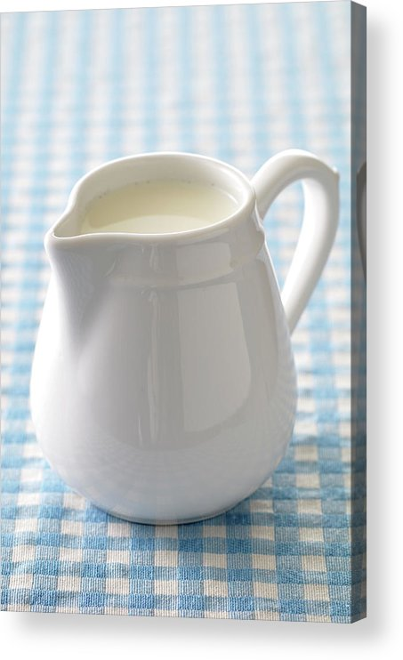 Single Object Acrylic Print featuring the photograph A Jug Of Cream by Riou