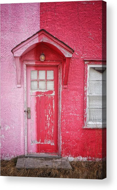 Built Structure Acrylic Print featuring the photograph Abandoned Pink And Red House by Stan Strange / Eyeem
