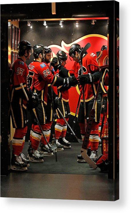 Playoffs Acrylic Print featuring the photograph Anaheim Ducks V Calgary Flames - Game by Brad Watson