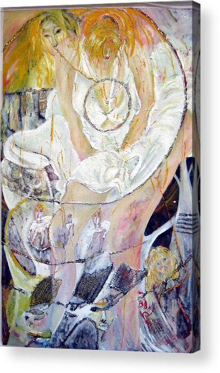 Figurative Acrylic Print featuring the painting Blondie  by Peggy Blood