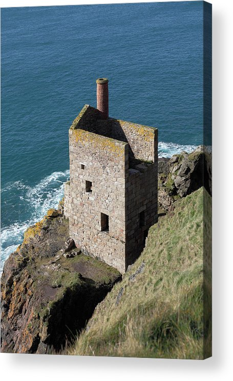 Tin Acrylic Print featuring the photograph Botallack Tin Mine St Just, Cornwall by Anthony Collins