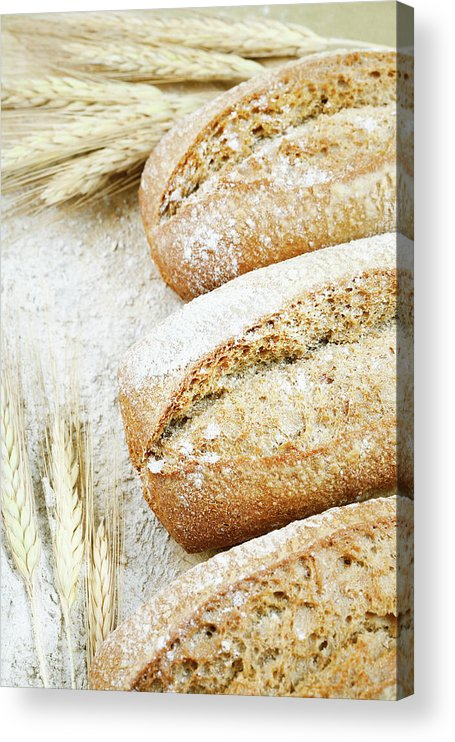 Breakfast Acrylic Print featuring the photograph Bread by Cactusoup