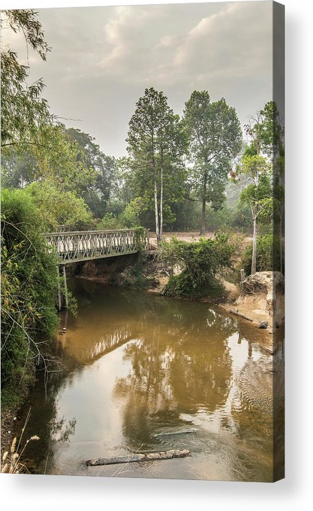 Tranquility Acrylic Print featuring the photograph Bridge Over Siem Reap River On The Road by Cultura Exclusive/gary Latham