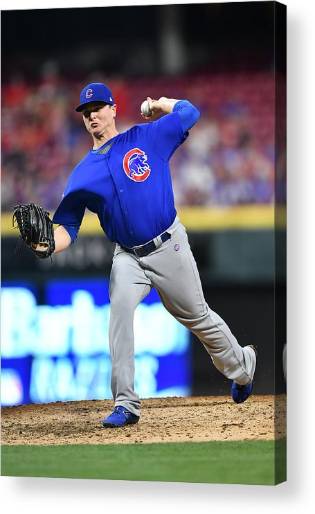 Great American Ball Park Acrylic Print featuring the photograph Chicago Cubs v Cincinnati Reds by Jamie Sabau