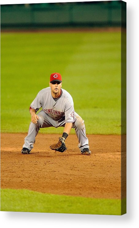 Sports Ball Acrylic Print featuring the photograph Cincinnati Reds v Washington Nationals by Mitchell Layton