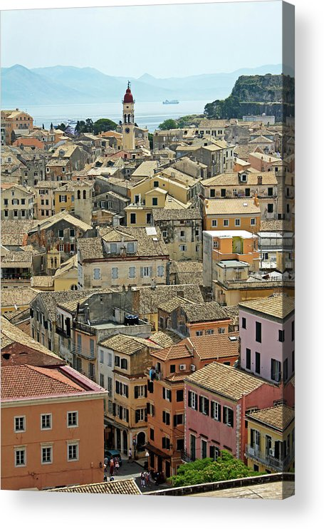 Greek Culture Acrylic Print featuring the photograph Corfu, Greece by David Gould