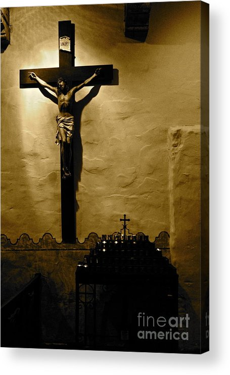 Christ Acrylic Print featuring the photograph Crucifixion by Lori Leigh