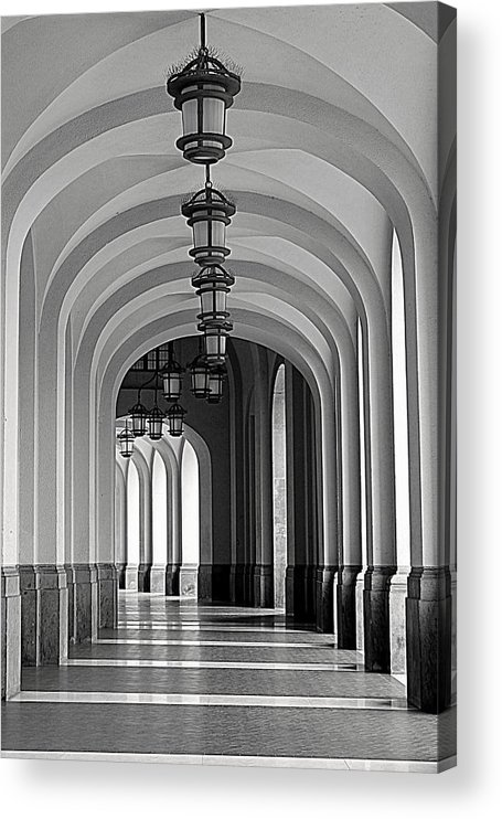 Arch Acrylic Print featuring the photograph Empty Road by Getty Contibu
