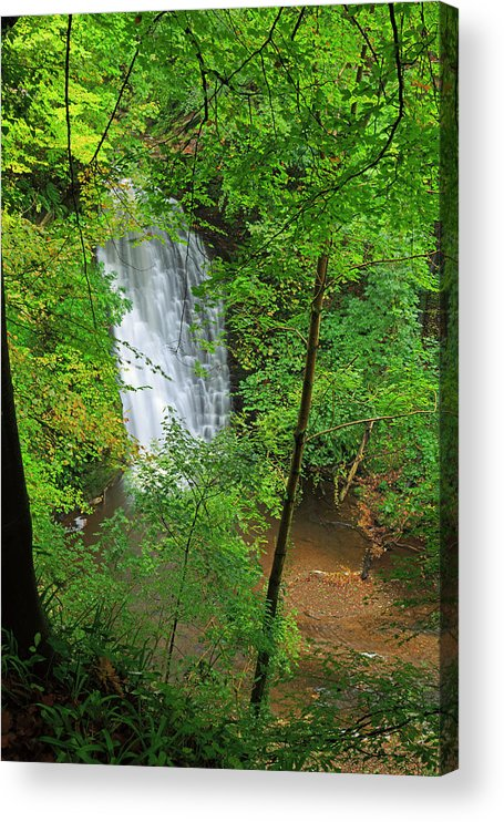 Scenics Acrylic Print featuring the photograph Falling Foss, North York Moors National by Louise Heusinkveld