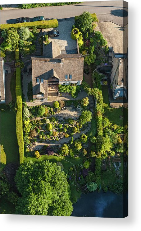 English Culture Acrylic Print featuring the photograph Family Homes And Green Summer Gardens by Fotovoyager