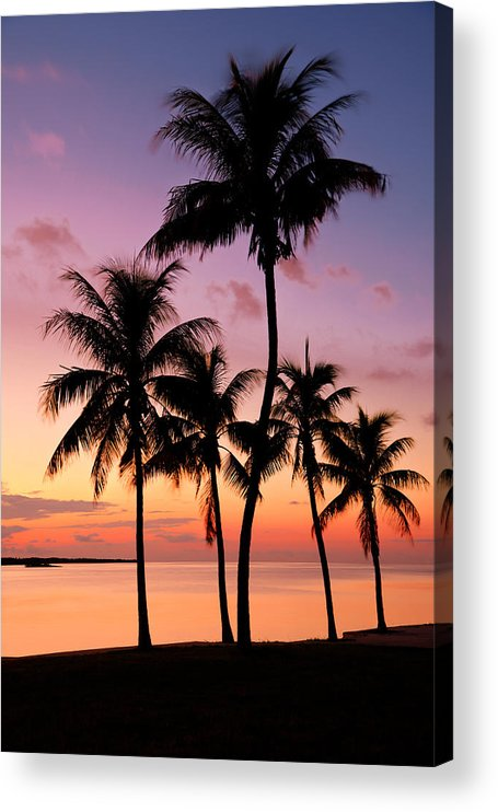 Sunset Acrylic Print featuring the photograph Florida Breeze by Chad Dutson