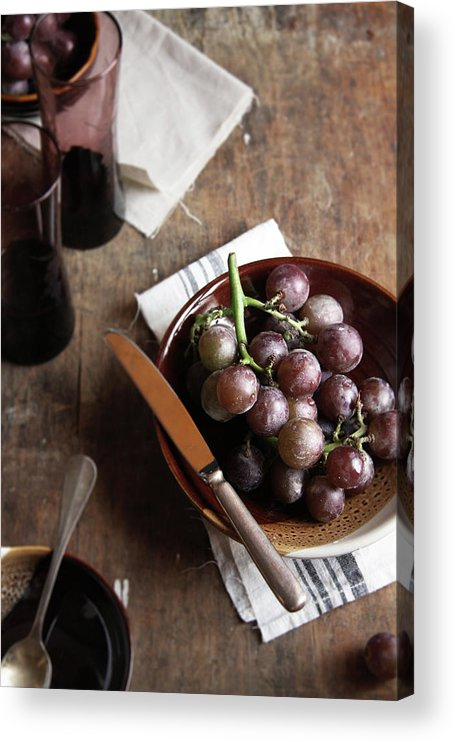 Spoon Acrylic Print featuring the photograph Grape by 200