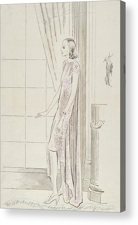 Actress Acrylic Print featuring the digital art Greta Garbo By A Window by Cecil Beaton